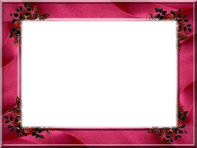 Cadre rose avec des fleurs