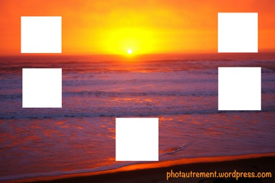 les cadres du coucher du soleil