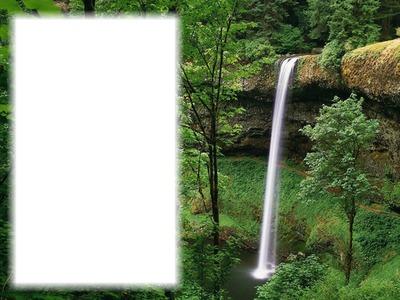 Vízesés erdő 1 kép