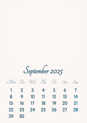 September 2025 // 2019 to 2046 // VIP Calendar // Basic Color // English