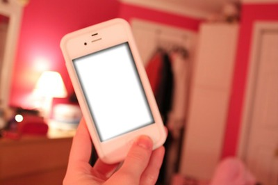 iphone in pink room