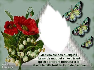 Photo Montage Porte Bonheur Muguet Pixiz