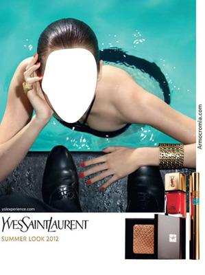 YVES SAINT LAURENT SUMMER LOOK 2012 ADVERTISING