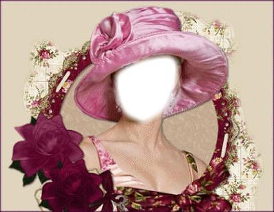 femme a chapeau