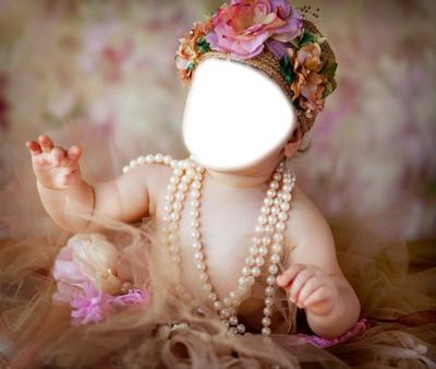 petite fille au fleur