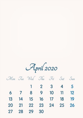 Calendario 2020 Vip.Photo Montage April 2020 2019 To 2046 Vip Calendar