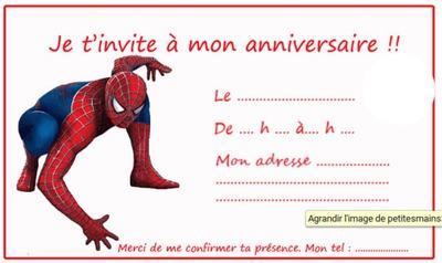 invitation spiderman