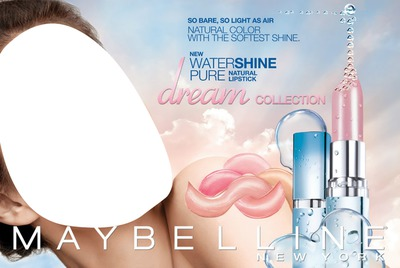 Maybelline Water Shine Pure Natural Lipstick Advertising