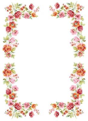 Flower frame oval 1