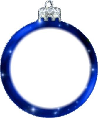 bolas de natal azul
