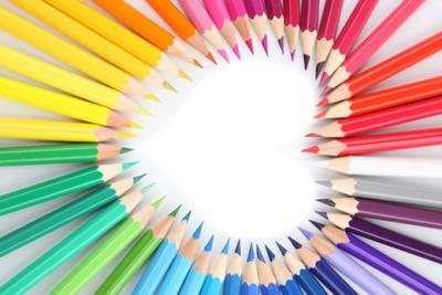 crayons en coeur