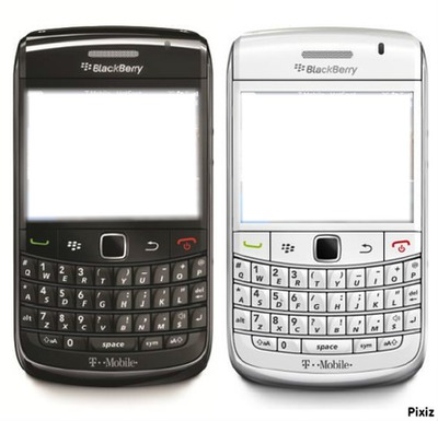 Blackberry black & withe