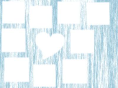 8 carrés autour d'1 coeur