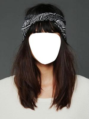 Femme cheveux long