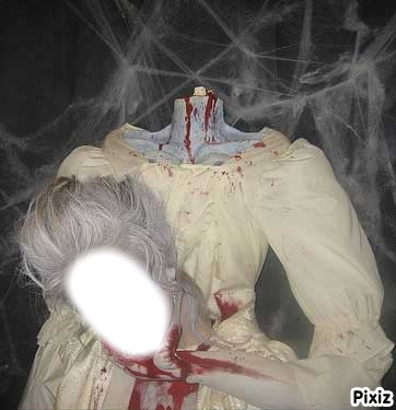 Tête découpéee Halloween