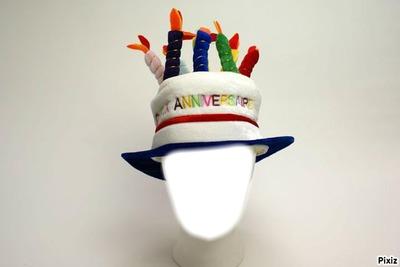 anniversaire chapeau