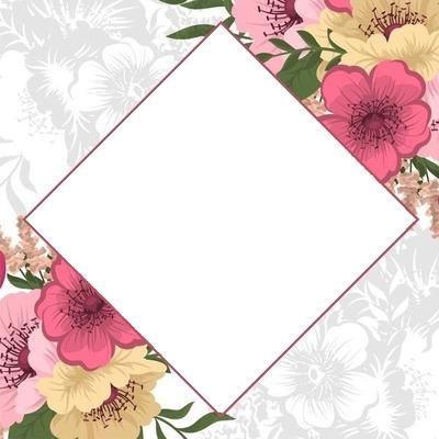 Losange floral