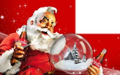 Image Pere Noel Coca Cola.Photo Montage Pere Noel Coca Cola Pixiz