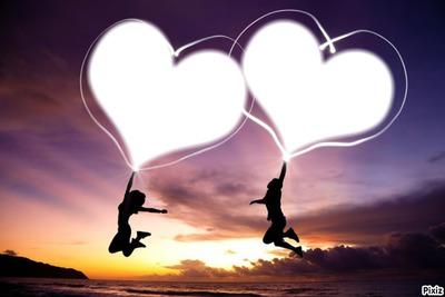 Deux coeurs joyeux