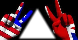 doigts et drapeau Americain