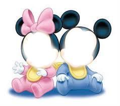 mickey et minnie bébé