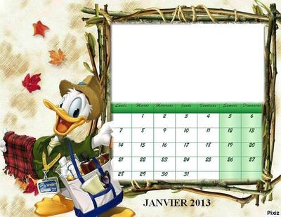 CALENDRIER PICSOU JANVIER 2013
