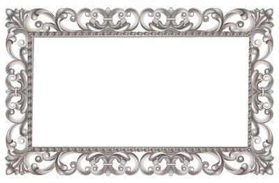 cadre baroque argenté