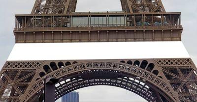 banderole sur la Tour Eiffel