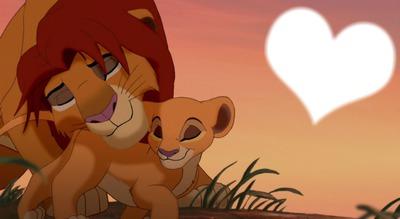 papa et fille roi lion