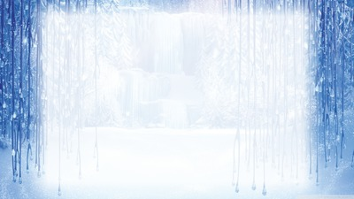 winter frame frozen
