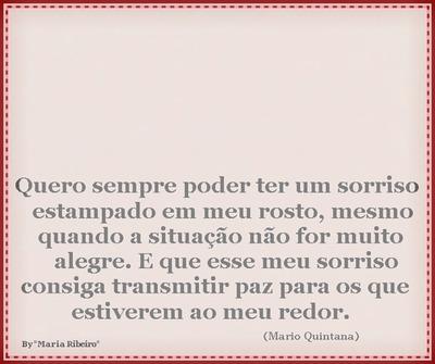 """Um Sorriso Sempre é Bom! By""""Maria Ribeiro"""""""