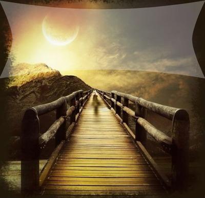 long chemin paisible