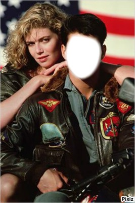 "Visage avec Kelly McGillis ""Top Gun"""