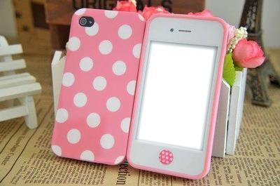 polka-dot iphone