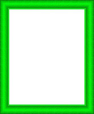 cadre vert vif