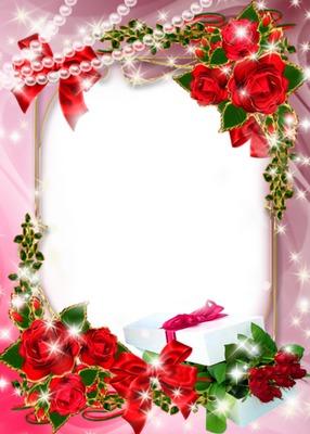 virág keret