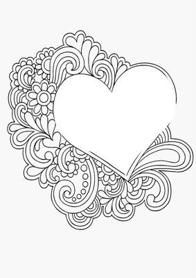 coeur coloriage