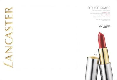 Lancaster Rouge Grace Lipstick Advertising