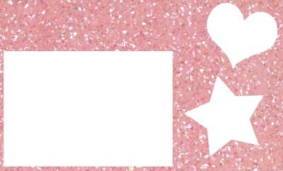 Moldura rosa com glitter