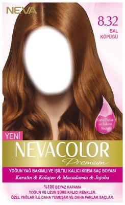 Nevacolor Premium 8.32 Bal Köpüğü - Kalıcı Krem Saç Boyası Seti