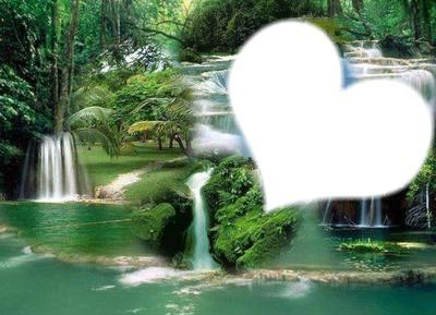 le coeur a la cascade