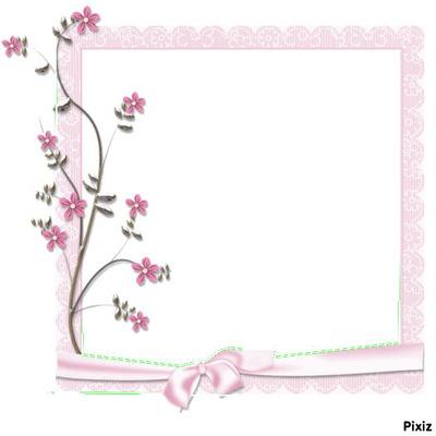 cadre rose a fleurs