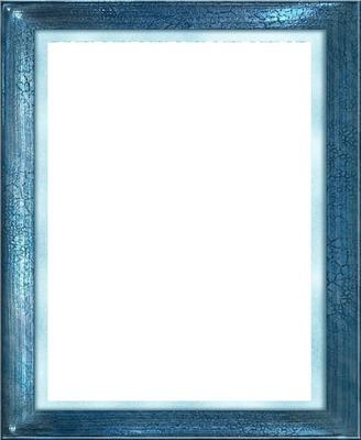 cadre bleu brillant