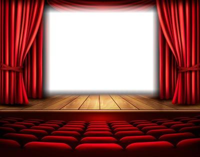 Photo montage Scène - théâtre - rideaux rouges - Pixiz