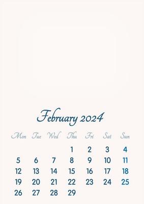 February 2024 // 2019 to 2046 // VIP Calendar // Basic Color // English