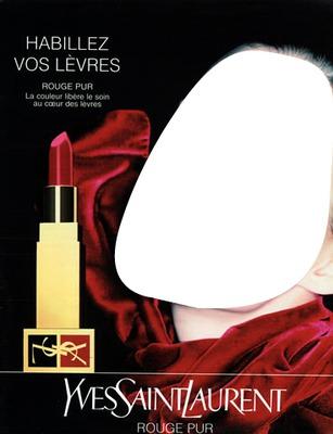 Yves Saint Laurent Rouge Pur Lipstick Advertising