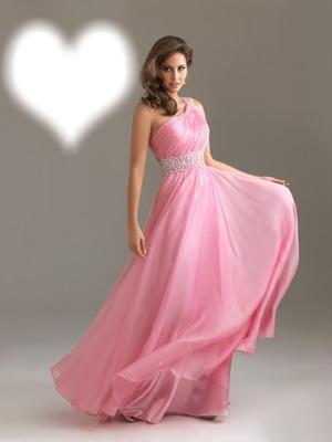 Femme avec une robe