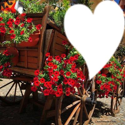 une charrette de fleurs pour ma chérie