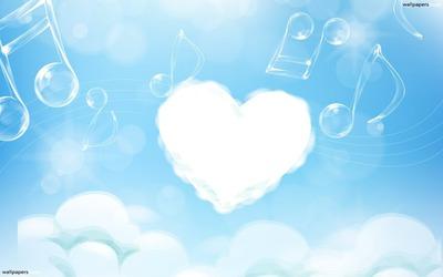 coeur en nuage