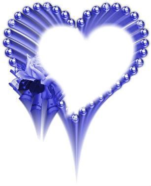 coeurs bleu